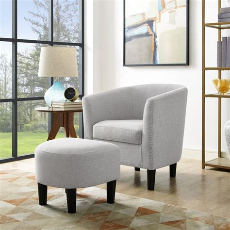 Glamorous is the word that best describes the albright sofa. Latitude Run Modern Accent Chair Upholstered Comfy Arm Chair Linen Fabric Single Sofa Chair With ...