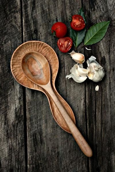 hand carved wood spoon rest  world kitchen