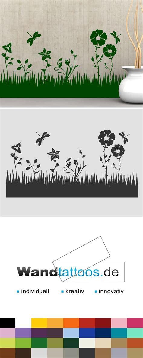 Wandtattoo Blumen Kreative Wandgestaltung by Wandtattoo Blumen Wiese Mit Libellen In 2019 Bord 252 Ren