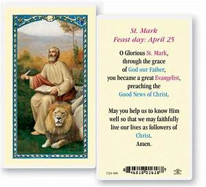 St. Mark Laminated Prayer Cards 25 Pack