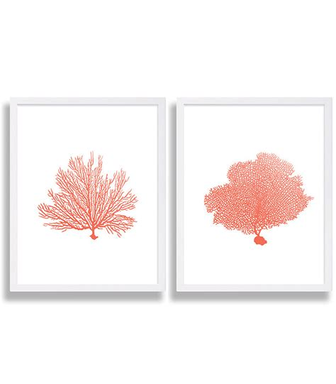 coral colored decorative accents coral wall prints coral color decor coral prints water