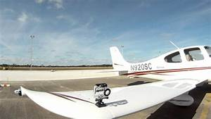Gopro Camera Mounted On Cirrus Sr20 Wing Using Existing