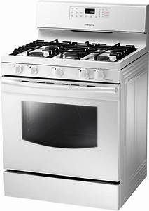 Samsung NX58F5500SW 30 Inch Freestanding Gas Range With 5 Sealed Burners 17000 BTU High Power