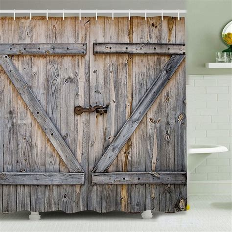 barn door shower curtain dudeiwantthat