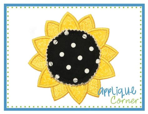 applique corner sunflower applique design fall sunflower