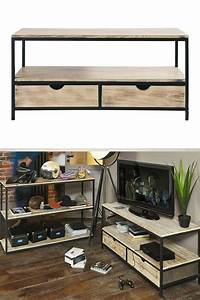 Meuble De Salon Pas Cher : meuble tv industriel pas cher le top10 ~ Teatrodelosmanantiales.com Idées de Décoration