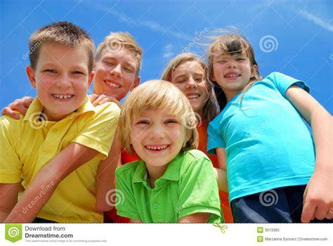 Five Happy Kids Stock Photos  Image 3013383