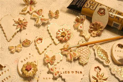delicate vintage ornaments salt dough craft