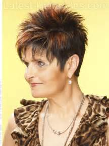 Short Spiky Hairstyles Women Over 50