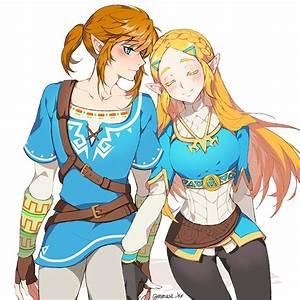 Breath Of The Wild Link And Zelda The Legend Of Zelda