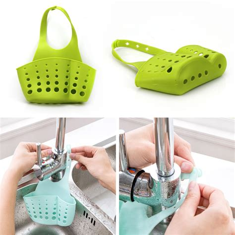 kitchen sink gadgets kitchen portable hanging drain bag basket bath storage 2721