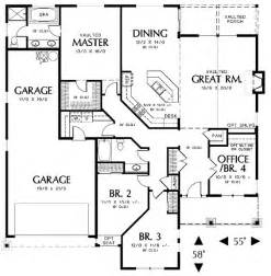 floor plans 2000 sq ft 2000 square 3 bedrooms 2 batrooms 2 parking space on 1 levels house plan 5023 all