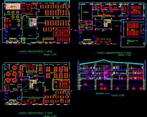 library dwg section  autocad designs cad