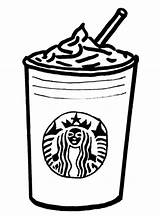 Coloring Colouring Starbucks Pages Template Tumblr sketch template