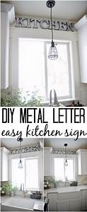 32 creative diy decor ideas for your kitchen With kitchen colors with white cabinets with diy metal wall art projects