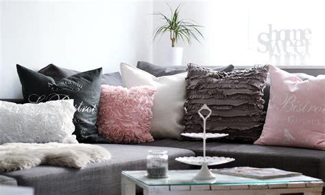 Wohnzimmer Weiss Rosa Grau  Lavie Deboite