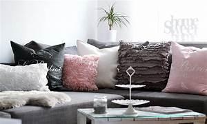 Rosa Deko Wohnzimmer : wohnzimmer weiss rosa grau lavie deboite ~ Frokenaadalensverden.com Haus und Dekorationen