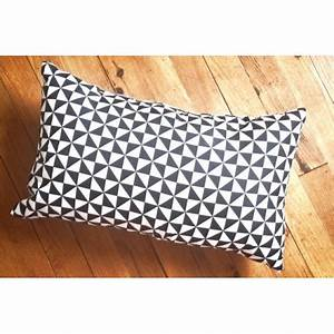 PYRA Coussin Rectangle 30x50 Cm Graphiques Blanc
