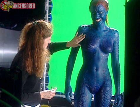 Naked Rebecca Romijn In X Men