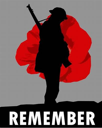 Lest Forget Remembrance Sunday Poppy Soldier Silhouette