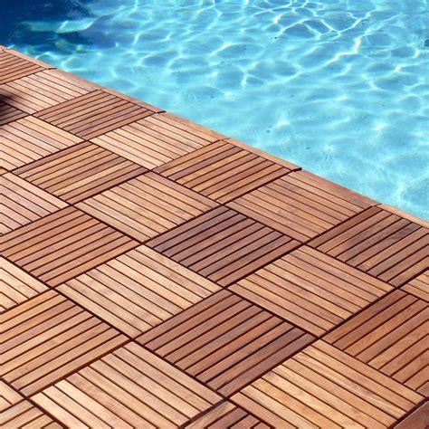 le click interlocking floor tiles teak wood classic