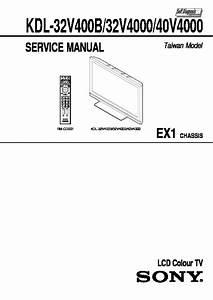 Sony Kdl-32v4000  Kdl-40v4000  Kdl-46v4000 Service Manual