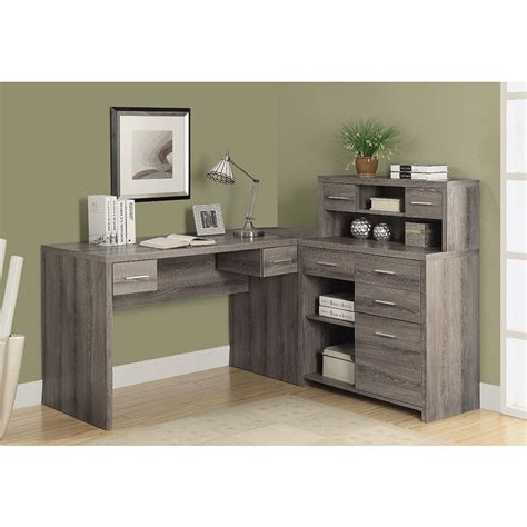 Jordi Gray Washed Modern Desk Set  Eurway Furniture
