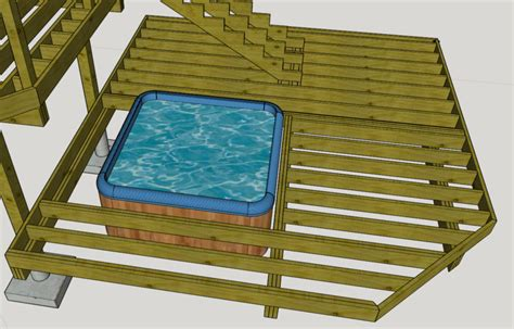 freestanding deck optimal placement  posts  support