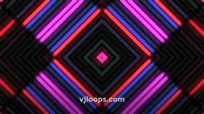 Neon Lights Wall Shapes Colorful Edm Vjloops