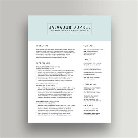 buy resume template best 25 best resume template ideas