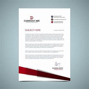 Free Company Newsletter Template Red Letterhead Design Download Free Vectors Clipart