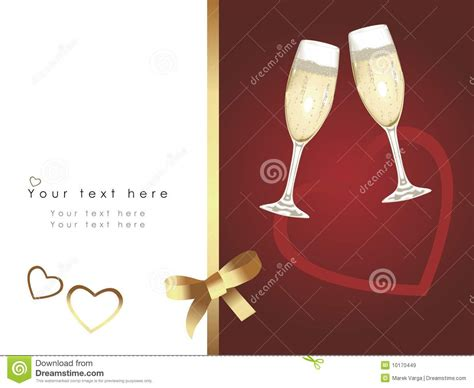 beautiful wedding card royalty  stock images image