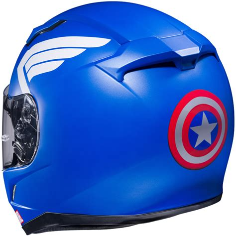 The Punisher Biru keren nih helm hjc dengan grafis marvel