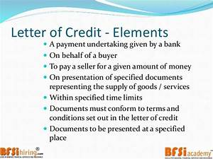 financial document letter of credit exle letter of With funding against letter of credit