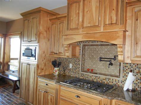 images of kitchen backsplash hickory cabinets with black island 4630
