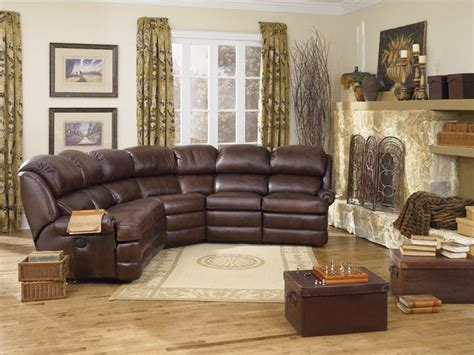This Leather Sectional Has Enough Room For The Whole