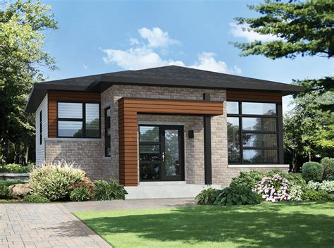 Two Bedroom Modern House Plan-pm