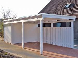 Garage Mit Carport : die besten 25 carport mit schuppen ideen auf pinterest stahl carports carports und carport ~ Orissabook.com Haus und Dekorationen