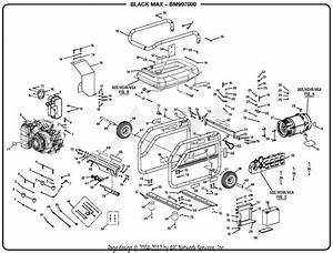 Homelite Bm907000 7000 Watt Generator  Om 990000507  Parts