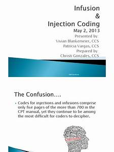 Infusion And Injection Coding