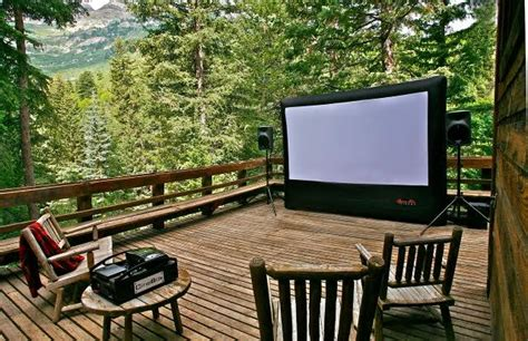 Backyard Theater Screen by Outdoor Home Theater 12 X 7 Grand Rental Station