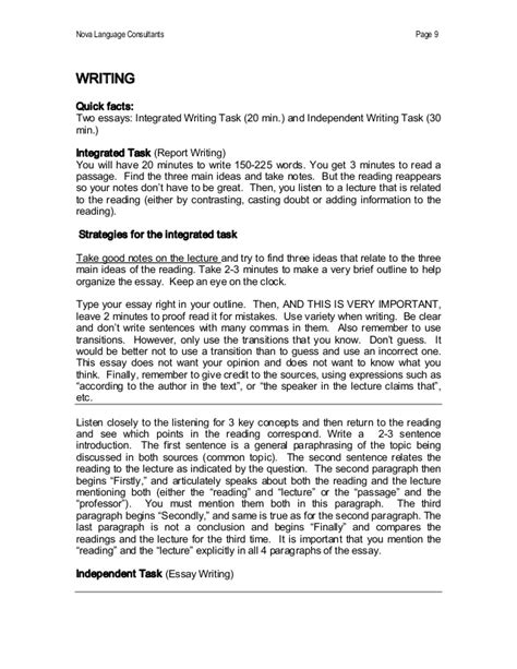 Toefl Writing Templates Magoosh by Toefl Writing Template Photos Gt Gt Toefl Writing