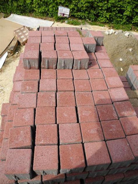 Pflastersteine Rot, 50 Qm2, Betonpflaster 10x10x8 Cm In