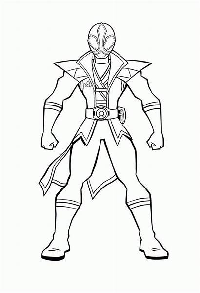 Power Rangers Coloring Pages Clipart Mighty Morphin