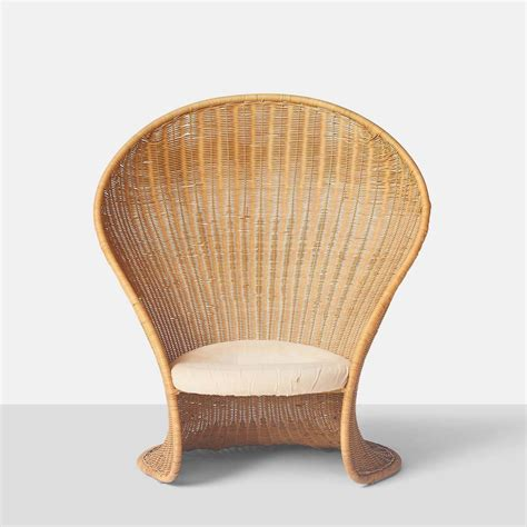 quot foglia quot wicker lounge chair by travasa for sale
