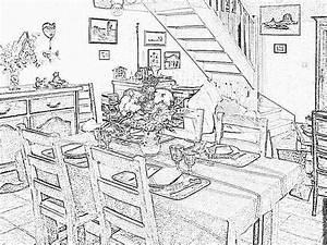 coloriage interieur maison imprimer maison moderne With dessin d interieur de maison