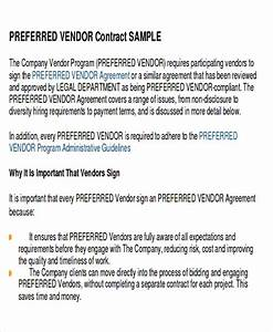 vendor contract template best sample vendor contract With preferred vendor agreement template