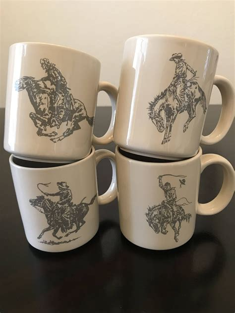 The lighting is perfect, and the music isn't too loud. Vintage Marlboro Man Cowboy Mugs/Vintage Cowboy Coffee Mugs/Horse And Cowboy Mugs by ...