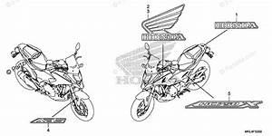 Honda Motorcycle 2018 Oem Parts Diagram For Mark