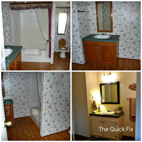 mobile home bathroom ideas my s song guest bathroom with a country twist